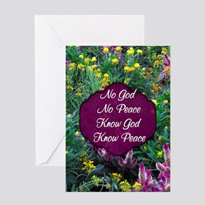 GOD IS PEACE Greeting Card