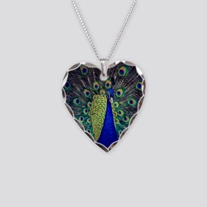 Cobalt Blue Peacock Necklace