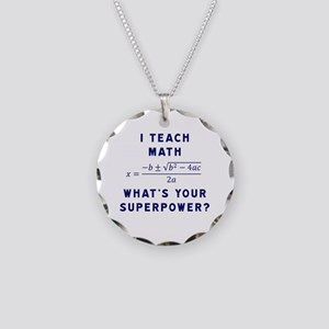 I Teach Math / What's Your S Necklace Circle Charm