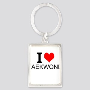 I Love Taekwondo Keychains