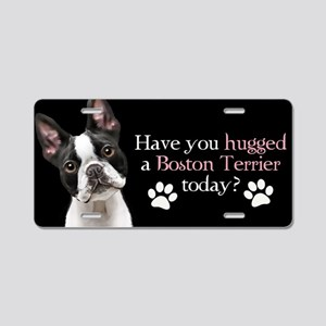 Boston Hug Aluminum License Plate