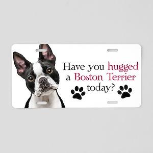 Boston Hug Aluminum License Plate