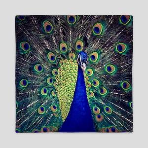 Cobalt Blue Peacock Queen Duvet