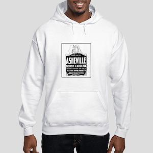 Asheville NC - Vintage Ad Hooded Sweatshirt