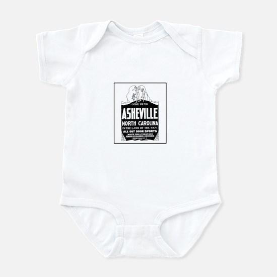 Asheville NC - Vintage Ad Infant Bodysuit
