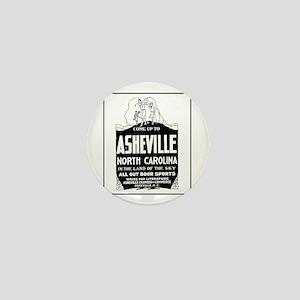 Asheville NC - Vintage Ad Mini Button