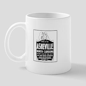 Asheville NC - Vintage Ad Mug