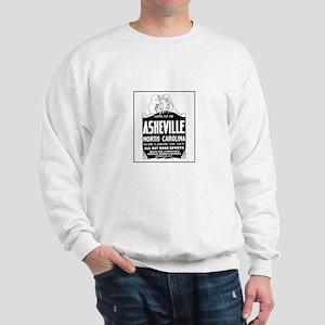 Asheville NC - Vintage Ad Sweatshirt
