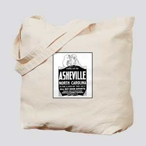 Asheville NC - Vintage Ad Tote Bag