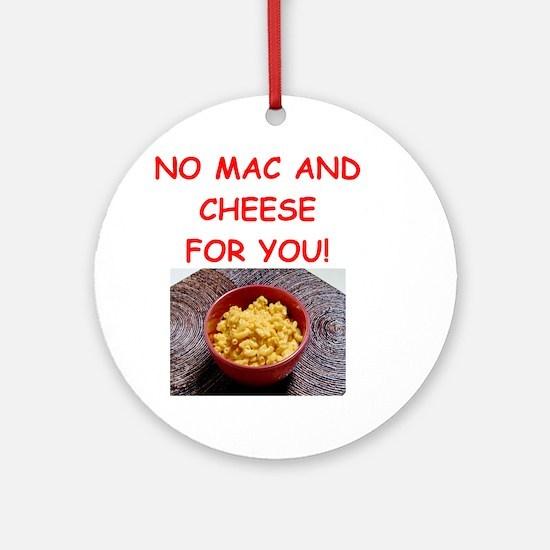 Macaroni And Cheese (round) Round Ornament