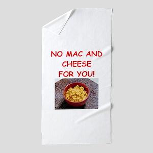 macaroni and cheese Beach Towel