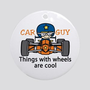 Car Guy Ornament (Round)