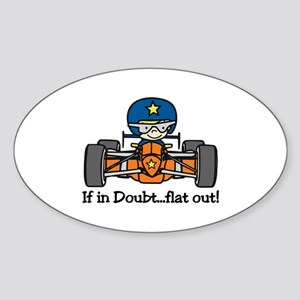 Flat Out Sticker
