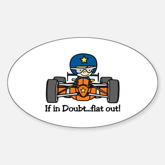 Flat Out Decal
