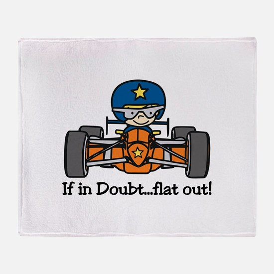 Flat Out Throw Blanket
