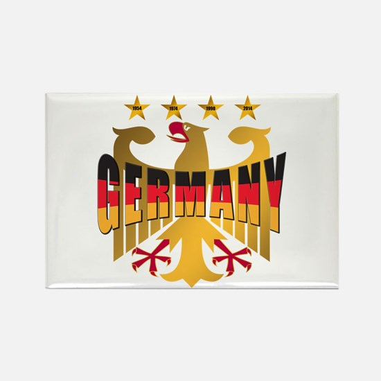 Germany four Star Champions Rectangle Magnet