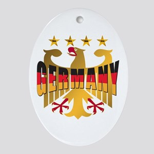 Germany four Star Champions Ornament (Oval)