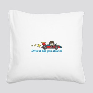 Drive It! Square Canvas Pillow