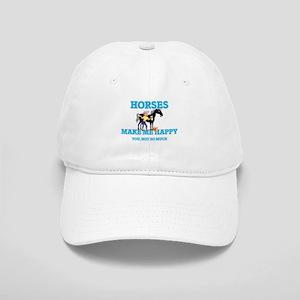 Horses Make Me Happy Cap
