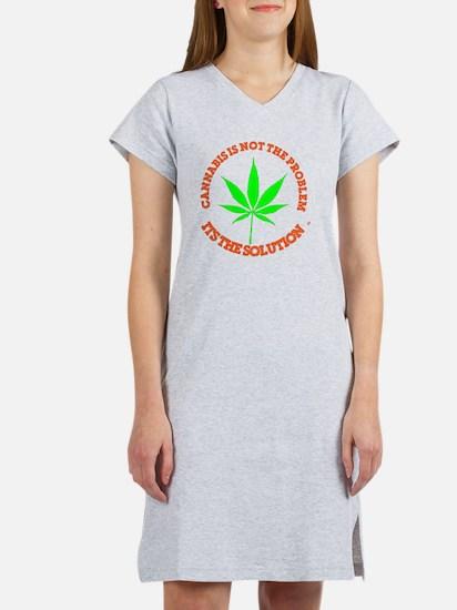Cute Medical marijuana Women's Nightshirt