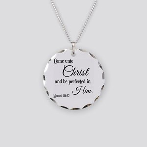 Come Unto Christ Scripture Necklace Circle Charm