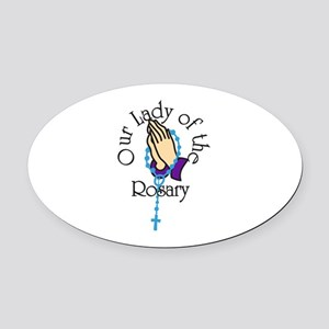 Our Lady Oval Car Magnet