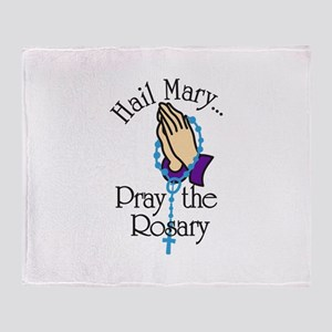 Pray The Rosary Throw Blanket
