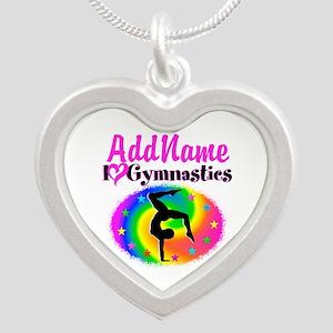 GYMNAST STAR Silver Heart Necklace