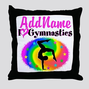 GYMNAST STAR Throw Pillow
