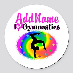 GYMNAST STAR Round Car Magnet