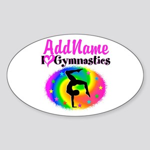 GYMNAST STAR Sticker (Oval)
