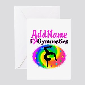 GYMNAST STAR Greeting Card