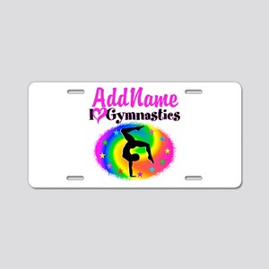 GYMNAST STAR Aluminum License Plate