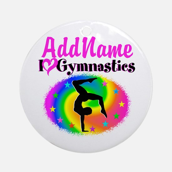 GYMNAST STAR Ornament (Round)