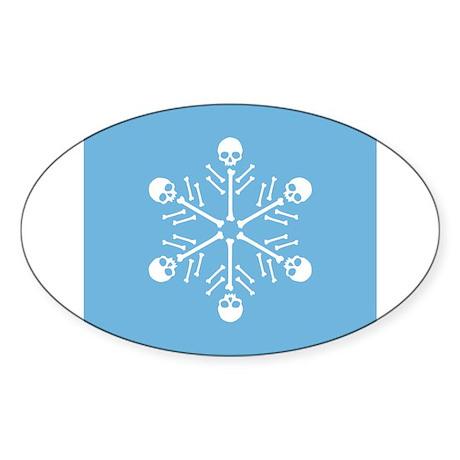 Skull Snowflake Sticker