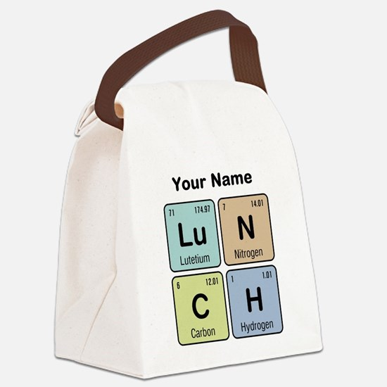 Chemistry Lunch Canvas Lunch Bag