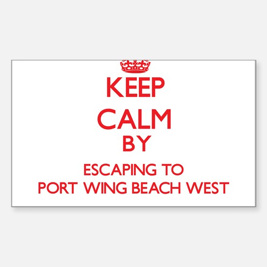Keep calm by escaping to Port Wing Beach West Wisc
