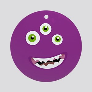 Purple People Eater Ornament (Round)