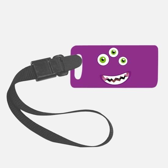 Purple People Eater Luggage Tag
