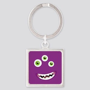 Purple People Eater Square Keychain