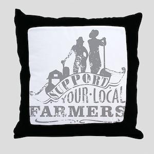Suppor Local Farmers Throw Pillow