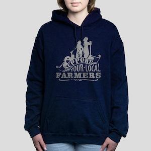 Suppor Local Farmers Women's Hooded Sweatshirt