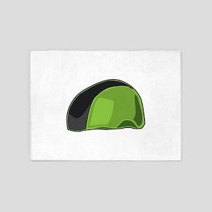 Green Helmet 5'x7'Area Rug
