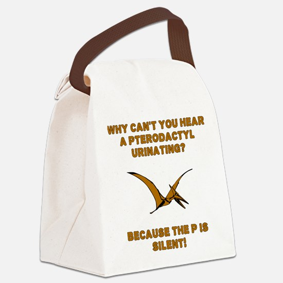Pterodactyl Pee Silent P Canvas Lunch Bag