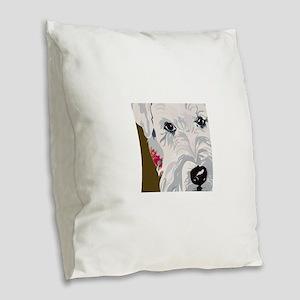 WHEATON1 Burlap Throw Pillow