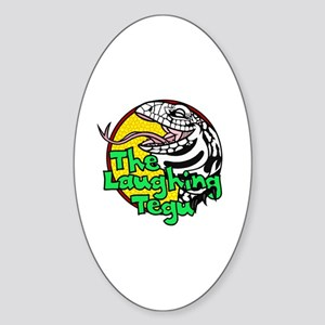 The Laughing Tegu Oval Sticker