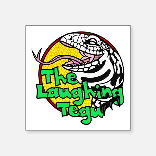 "The Laughing Tegu Square Sticker 3"" X 3"""