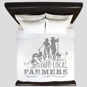 Support Your Local Farmers King Duvet