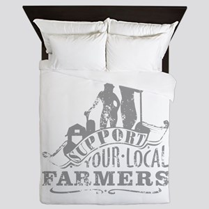 Support Your Local Farmers Queen Duvet