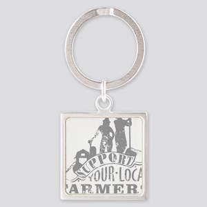 Support Your Local Farmers Keychains